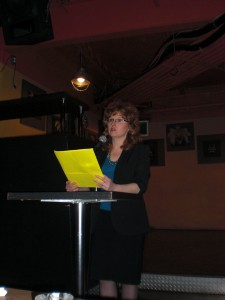 Reading at the Amprosia book launch.