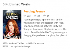 Feeding Frenzy is a supernatural thriller with humour and magic.